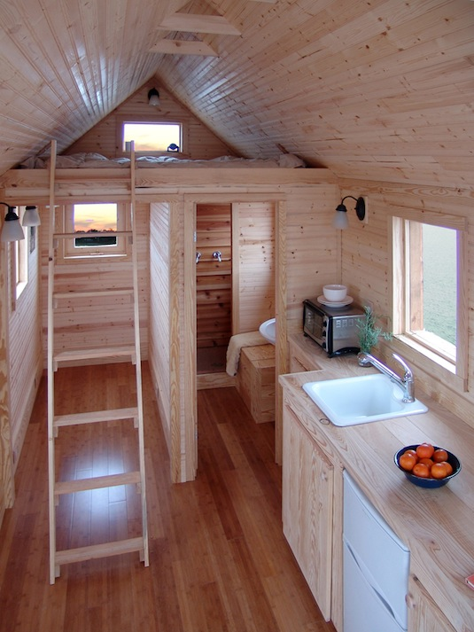 Living small what 39 s the big idea avocado sweet - Tumbleweed tiny house interior ...