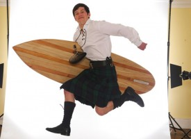 Surf's up in Fife: Wooden surfboards handmade in Scotland