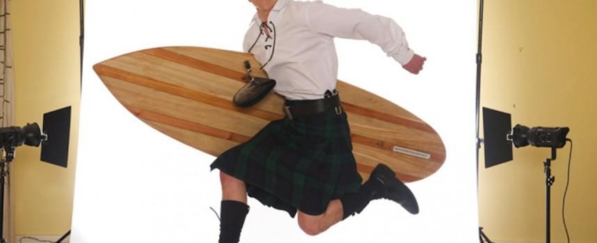 Surf's up in Fife: Wooden surfboards handmade in Scotland