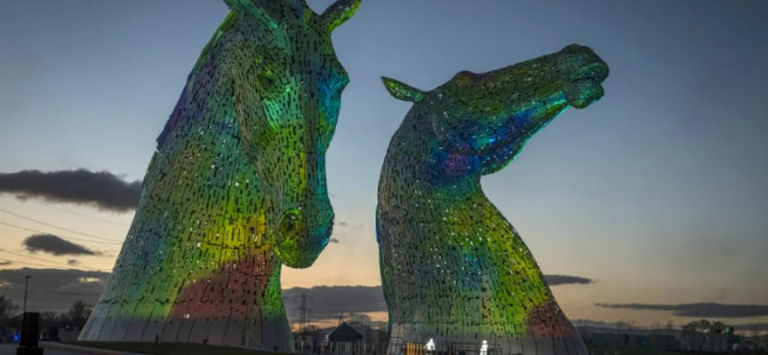 Launch of The Kelpies, Falkirk