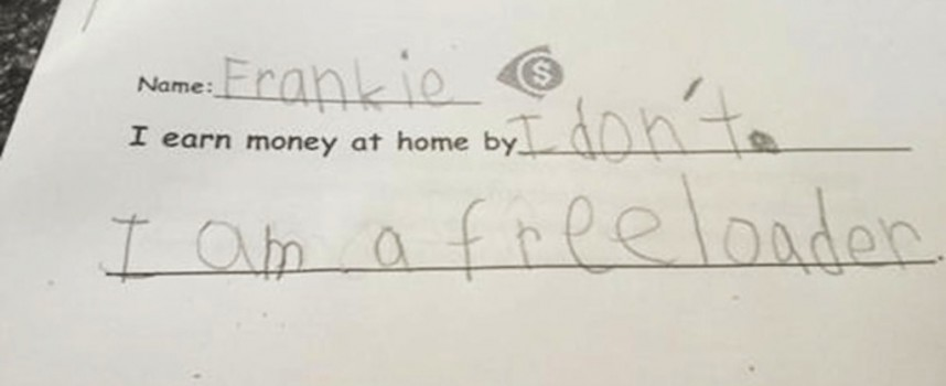 Children's clever (but incorrect) test answers