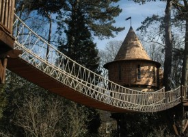 Cool treehouse from Blue Forest Design