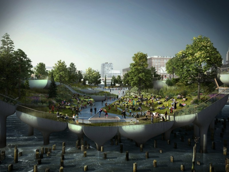 Thomas Heatherwick's £170m design for Pier 55, Hudson River, New York