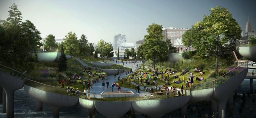 Thomas Heatherwick's £170m design for Pier 55, Hudson River, New York