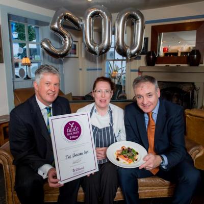 Kincardine restaurant, The Unicorn Inn wins food & drink award