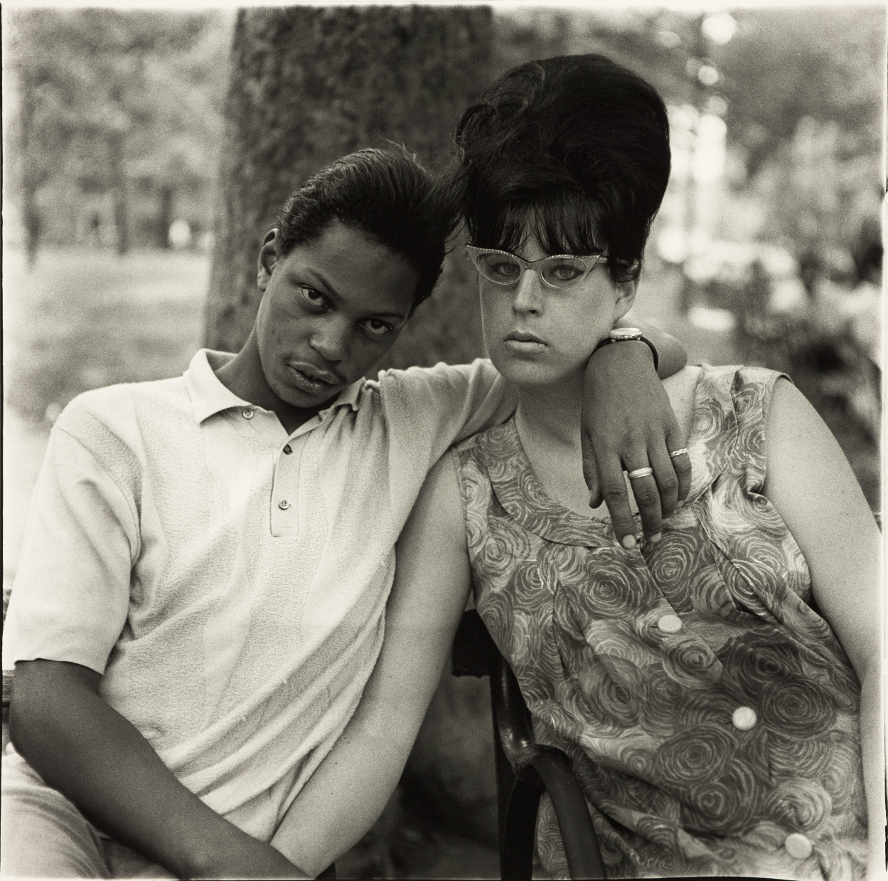 'Young Man and his Wife' by Diane Arbus