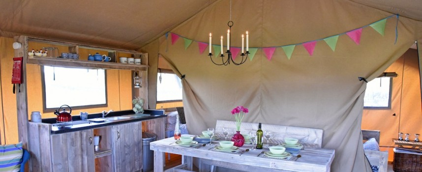 Luxury camping near Falkirk