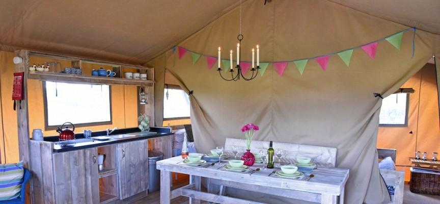 Luxury camping near Falkirk
