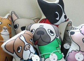 Kara Burke's dog cushions capture the heart