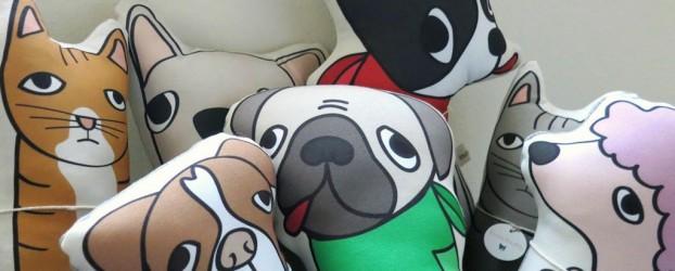Kara Burke's dog cushions capture the heart