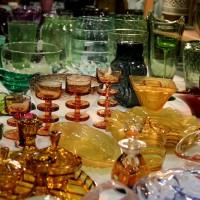 Pretty vintage glassware at the Antiques & Collectors Fair, Edinburgh
