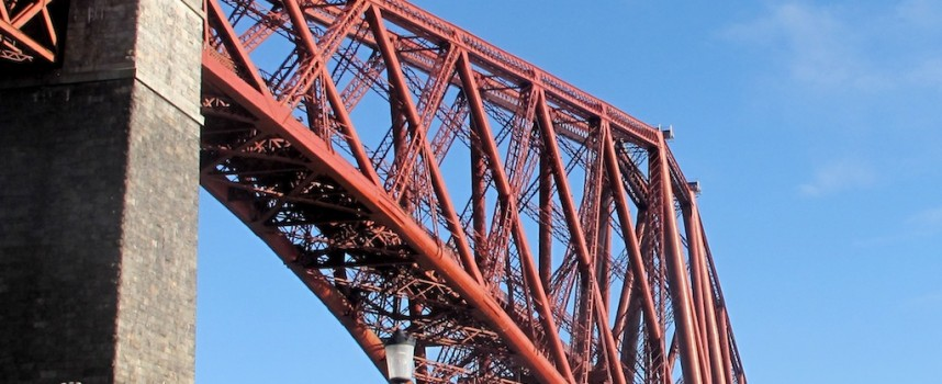 Stunning aerial video of the three Forth Bridges