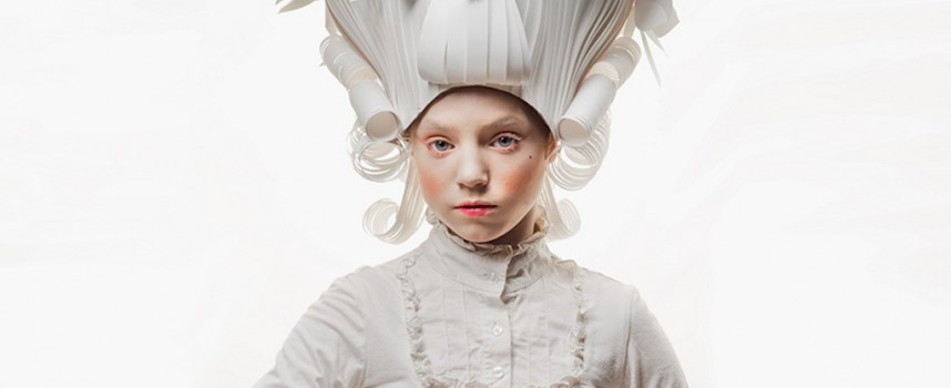 Baroque paper wigs by Asya Kozina