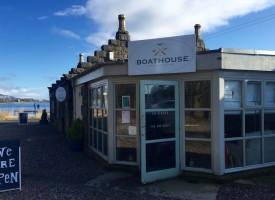 Boathouse cafe & restaurant, Loch Leven, Kinross