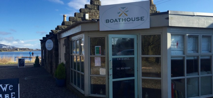 Boathouse cafe & restaurant, Loch Leven, Kinross