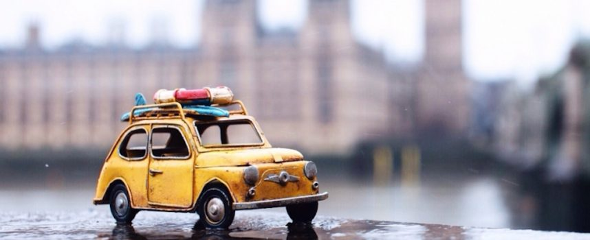Travelling Cars: photos of vintage toy cars touring the world