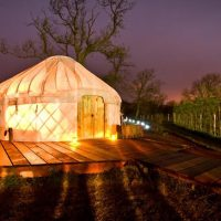 Yurts in Scotland; Fife and The Trossachs