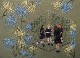 Embroidered works of art by Michelle Kingdom