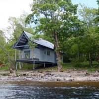 A place to stay on Loch Tay; beautiful boathouses