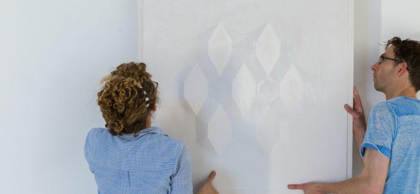 Chalk: stunning modern plaster works at Fire Station