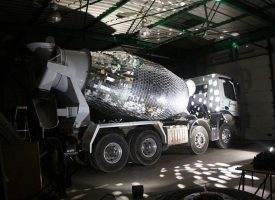 Cement Mixer Disco Ball