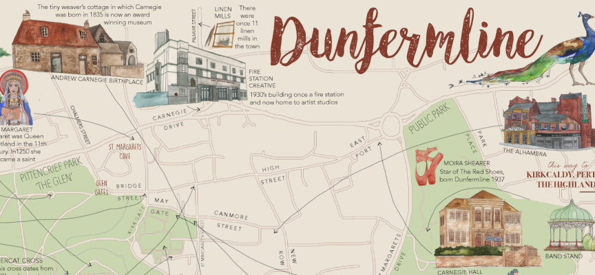 We launch new Dunfermline map: history in your hand