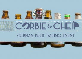 German beer tasting at Auchterarder deli