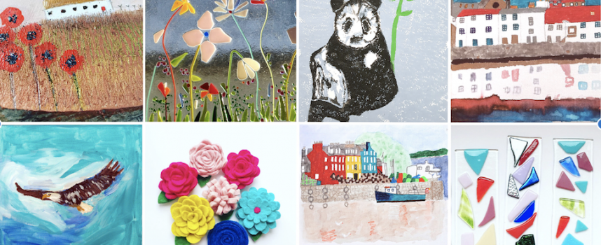 'Making Memories' – an exhibition of artwork by patients of Victoria Hospice, Kirkcaldy